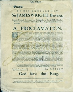 A Proclamation by James Wright, 1774