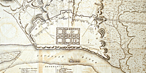 Plan of the Siege of Savannah, 1779
