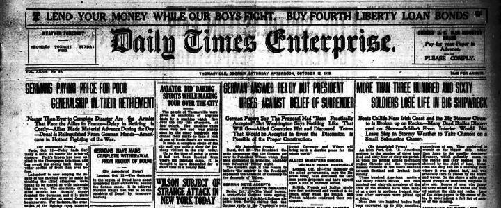 Daily Times Enterprise Newspaper, October 12, 1918