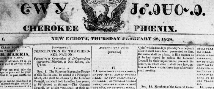Cherokee Phoenix Newspaper, February 28, 1828