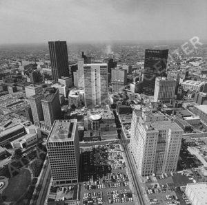 Atlanta Skyline Circa 1970