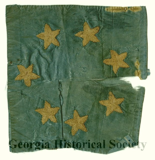 Confederate flag fragment, 1861