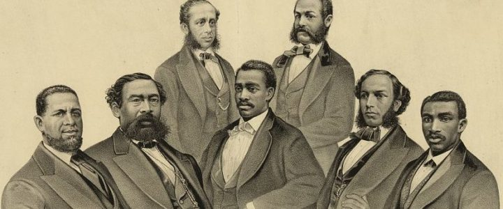 Photograph of the first black senator and representatives from Georgia