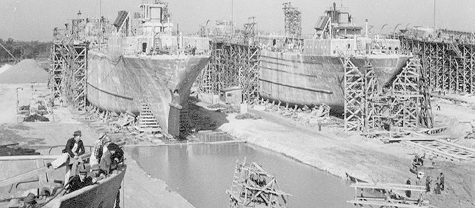 McEvoy Shipyard during WWII