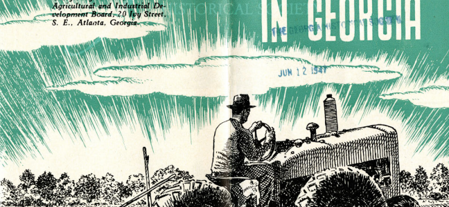 """Agriculture in Georgia"" Advertising Pamphlet"