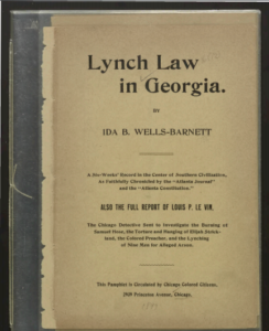 Ida B Wells' Lynch law in Georgia
